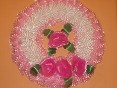 corona Funeral Flower Arrangements, Funeral Flowers, Mesh Ribbon Wreaths, Crochet Shell Stitch, Infant Activities, Soft Colors, Vintage Dolls, Wedding Signs, Delicate