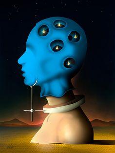 Perfil em Azul.   por Marcel Caram