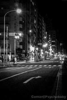 """Night Street""-Corner@Psychobaby by Sang Leung, via 500px"