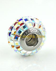 【80201-001AB】施華洛世奇水晶正方形水晶中孔