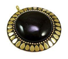Indian Fashion Vintage Boho Hippie Brass Plated Designer Jewelry Pendant P-526 #krsnajewels #Pendant