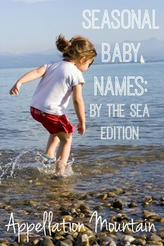 Looking for baby names inspired by the sea? Here's a list of names from the ocean, the seaside, and the natural world. Lots of gender neutral names, and very unexpected choices, too!