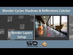 Blender Cycles Shadows & Reflections Catcher - Render Layers Setup - YouTube