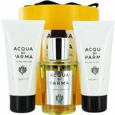 Acqua Di Parma Colonia Assoluta Cologne Shower Gel Body Cream Gift Set by Acqua Di Parma. $365.00. Product DescriptionACQUA DI PARMA by Acqua di Parma for MEN ASSOLUTA COLOGNE SPRAY 3.4 OZ & BODY CREAM 2.5 OZ & BATH AND SHOWER GEL 2.5 OZ Launched by the design house of Acqua di Parma in 1916, ACQUA DI PARMA by Acqua di Parma possesses a blend of rosemary, citrus, lavender. It is recommended for casual wear.