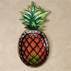 Pineapple Splendor Indoor Outdoor Wall Art Plaque Outdoor Wall Art, Indoor Outdoor, Tropical Bathroom Decor, Enclosed Patio, Seaside Decor, Wall Plaques, Stained Glass, Pineapple, Wall Decor