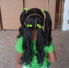 Ideas for pretty nature girl Lil Girl Hairstyles, Natural Hairstyles For Kids, Pretty Hairstyles, Cute Kids Hairstyles, Black Hairstyles, Curly Hair Styles, Natural Hair Styles, Kid Braid Styles, Braids For Kids