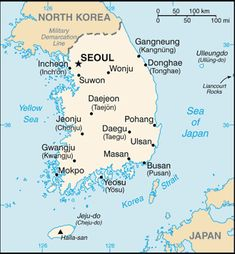 another outline map of South Korea   Korea 2   Pinterest   South
