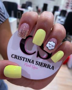 Heart Nail Designs, Cute Acrylic Nail Designs, Simple Acrylic Nails, Colorful Nail Designs, Best Acrylic Nails, Wow Nails, Cute Nails, Pretty Nails, Black Nails With Glitter