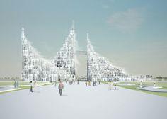 Sou Fujimoto designs masterplan made from modular arches
