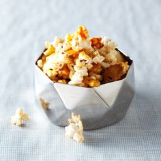 Smoky Popcorn: This smoky mix of popcorn and Japanese rice crackers makes more of an adult style popcorn. It was a hit with the adults.