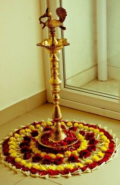 house warming ceremony decoration house warming decoration for house warming ceremony flower decoration ideas for housewarming. house warming ceremony decoration housewarming ceremony home decoration ideas. Give a twist to the… Diwali Decorations At Home, Home Wedding Decorations, Festival Decorations, Ceremony Decorations, Flower Decorations, Rangoli Designs Flower, Flower Rangoli, Rangoli Designs Diwali, Rangoli Ideas