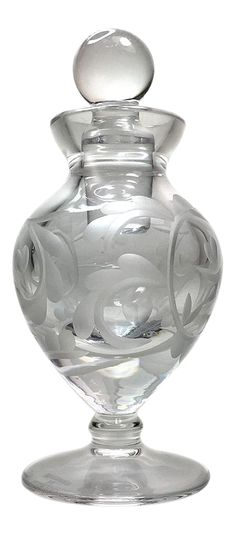 Shop bottles, jars & jugs at Chairish, the design lover's marketplace for the best vintage and used furniture, decor and art. Lalique Perfume Bottle, Antique Perfume Bottles, Bottle Vase, Glass Bottles, Glass Photography, Beautiful Perfume, Antique Glass, Glass Art, Fragrance