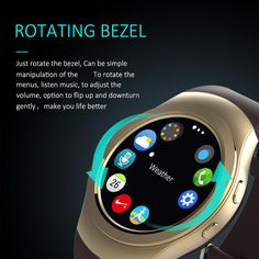 Rotating Bezel Bluetooth Smart Watch AS2 For Apple iPhone Samsung For Android Huawei Lenovo Phone PK KW18 KW88 S2 Smartwatch  #Affiliate