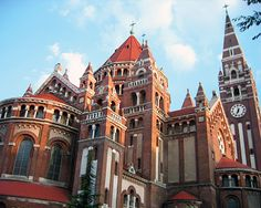The Votive Church of Szeged on Dóm Square. #Hungary
