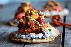 Caribbean Jerk Salmon Tostadas with Grilled Pineapple Peach Coconut Salsa | halfbakedharvest.com