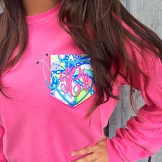 Our Monogrammed Stethoscope #LillyPulitzer Pocket Tee will make your heart skip a beat!