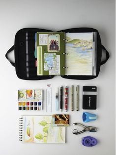 Tom Bihn Field Journal - a small 3-ring zip-around binder with a built-in key strap and lots of little pockets