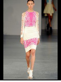 David Koma Spring 2012 Ready-to-Wear Fashion Show Collection Spring Fashion, High Fashion, Barbie, David Koma, Fashion Show Collection, Beautiful Dresses, Dress Up, Pink Dress, Ready To Wear