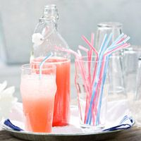 DRINK - Strawberry Lemonade - Homemade Lemonade is good but with STRAWBERRIES added - oh my!