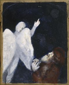 Marc Chagall Noah receives the order to build the Ark 1931