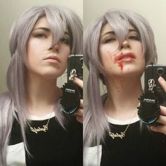 I bought a Ferid wig from @circusdoll_store to use for a different cosplay. Since I kinda want to cosplay him someday I thought I should try a make up test before butchering the wig. Now I can start working on the wig without any regrets  #owarinoseraph #seraphoftheend #owarinoseraphcosplay #seraphoftheendcosplay #feridbathory #cosplay #cosplaymakeup