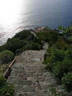 Monesteroli Staircase - Cinque Terre, Italy