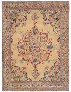 LAVER KIRMAN, Southeast Persian 11ft 8in x 16ft 2in Circa 1850