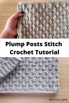 Learn How To Crochet The Beautifully Textured Plump Posts Stitch ~ erfahren sie, wie sie die schön strukturierten prallen pfosten häkeln ~ apprenez à crocheter le point de poteaux dodus magnifiquement texturé Easy Crochet Hat, Crochet Simple, Crochet Video, Crochet Instructions, Learn To Crochet, Knit Crochet, Tutorial Crochet, Crochet Sweaters, Crochet Man Hat