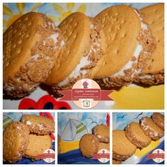 Banana ice cream sandwitches / glykesdiadromes.wordpress.com Banana Ice Cream, Muffin, Wordpress, Bread, Breakfast, Food, Morning Coffee, Brot, Essen