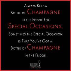 Our #champagne motto.