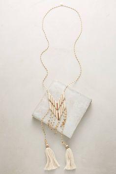 Slide View: 1: Gitan Beaded Tassel Necklace