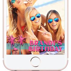 Retro Florida aqua pink flamingo design for your South beach Birthday party, custom Snapchat Geofilter!   | W H Y C H O O S E B E A U T I F U L L Y F I L T E R E D ? |  The difference between choosing Beautifully Filtered to create your next Snapchat Geofilter versus the other guys is because I give the customer little to no requirements when creating the design. The photos you see in my shop are simply ideas, examples, or designs that have already been approved by Snapchat and used.  If…