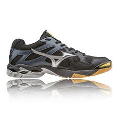 d3e23cfaa361 Mizuno Wave Bolt 4 Mens Black Tennis Court Badminton Sports Shoes Trainers