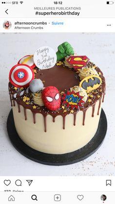 Superhero Buttercream Drip Cake Bespoke cakes and cupcakes to make any children's birthday extra special. Avengers Birthday Cakes, Superhero Birthday Cake, Birthday Cakes For Boys, Lego Superhero Cake, Flash Birthday Cake, Flash Cake, Cupcake Birthday Cake, Unicorn Birthday, 5th Birthday
