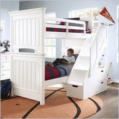 Twin Full Bunk Bed Youth Bedroom Bedrooms