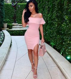 Amide Flutted off Shoulder dress in 4 colors from Fashion Miami Styles. Saved to Epic Wishlist.