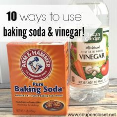 Here are different uses for baking soda and vinegar together. We have some clever cleaning tips for baking soda and vinegar uses that will help you save money! Try these vinegar and baking soda uses today! Baking Soda Cleaning, Baking Soda Uses, Household Cleaning Tips, Cleaning Recipes, House Cleaning Tips, Cleaning Hacks, Baking Soda For Laundry, Cleaning Solutions, Baking Soda Vinegar Cleaner