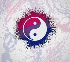 Bi Yin Yang wallpaper by paganuploads - - Free on ZEDGE™ Yen Yang, Ying Y Yang, Cool Backgrounds, Wallpaper Backgrounds, Iphone Wallpaper, Future Wallpaper, Cool Wallpaper, Bisexual Pride, Gay Pride