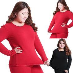 4c1446d3524 New Women O-Neck Sleepwear Nightwear Thermal Underwear Top   Leggings  2XL-4XL