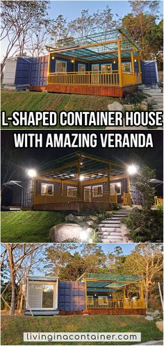 Container architecture in China is very much, but projects that are good enough to show you are unfortunately very few. We think that you will really like the house we show you today. Glass House Design, Wooden House Design, Modern Small House Design, House Front Design, 3 Storey House Design, Shipping Container Home Designs, Shipping Container House Plans, Container House Design, Shipping Containers