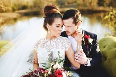 To a love that is blinding! styled shoot with Ladonna Lanier, photography by Stephanie Parsley, Venue The Barn at Twin Oaks. #styled #bridal #lazaro #bridalfashion #outdoor #rustic #glamour #groom #veil