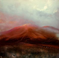 """Land Marks, John O'Grady - www.johnogradypaintings.com - A painting inspired by a William Blake quote """"Great things are done when men and mountains meet; this is not done by jostling in the street."""" #art #ireland"""
