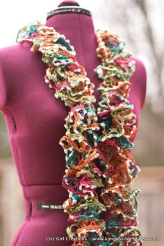 SUPER FUN Flounce Ruffle Scarf  - CHRISTMAS Sale. $25.00, via Etsy. Use Code AFTERSALE for 20% OFF