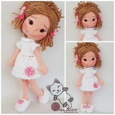 In this article we will share the amigurumi doll free crochet pattern. : In this article we will share the amigurumi doll free crochet pattern. Amigurumi related to everything you can not find and Crochet Amigurumi Free Patterns, Crochet Motifs, Crochet Doll Pattern, Diy Crochet, Crochet Crafts, Crochet Baby, Crochet Projects, Single Crochet, Tutorial Crochet