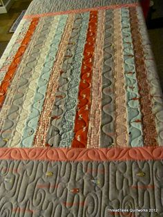 Strippy quilt made on longarm - I think I could do this quilting also on my regular machine.