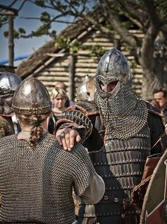 I love to use pics from Wolin to illustrate to my students that no, Vikings did not wear horned helmets to battle. Completely impractical! :)