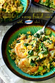 Quick and easy fried rice is perfect for busy weeknights and meets all of requirements for a fast tasty meal that's sure to satisfy the whole family! #MinuteMeals #AD