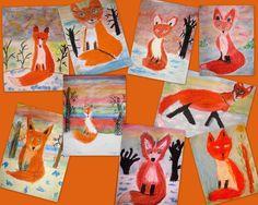 Tekenmaar kinderen: vos met oliepastels