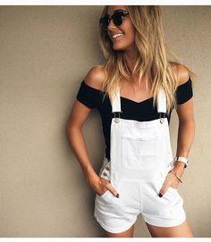 white overalls || pinterest   insta: Kylene Hashimoto CASUAL DRESSES http://amzn.to/2l55mII