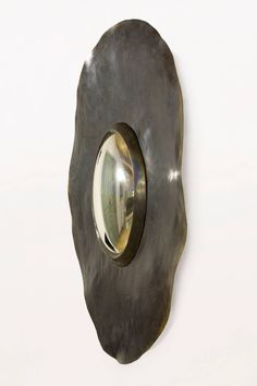 Handmade Bronze Herve Van Der Straetan Bullseye Mirror, circa 2000, France | From a unique collection of antique and modern convex mirrors at https://www.1stdibs.com/furniture/mirrors/convex-mirrors/
